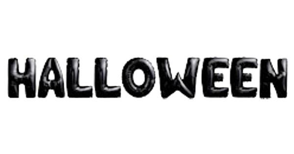Folienballon Halloween Schriftzug in schwarz 40cm