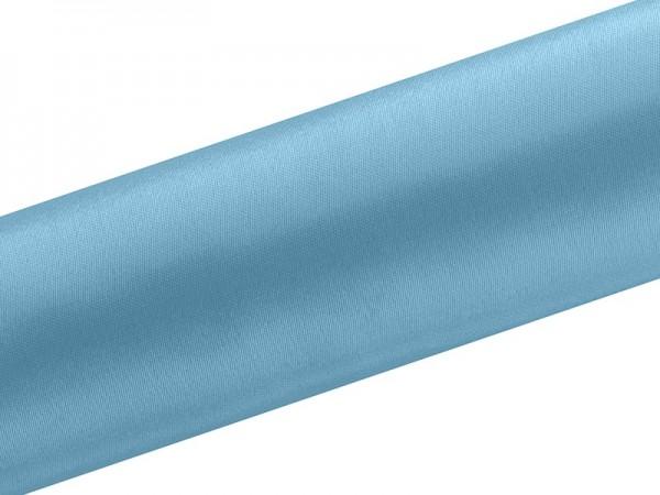 Satin Stoff Eloise azurblau 9m x 16cm