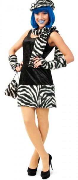 Sexy Zebra Zarie Plüschkleid