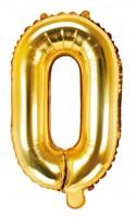 Folienballon O gold 35cm
