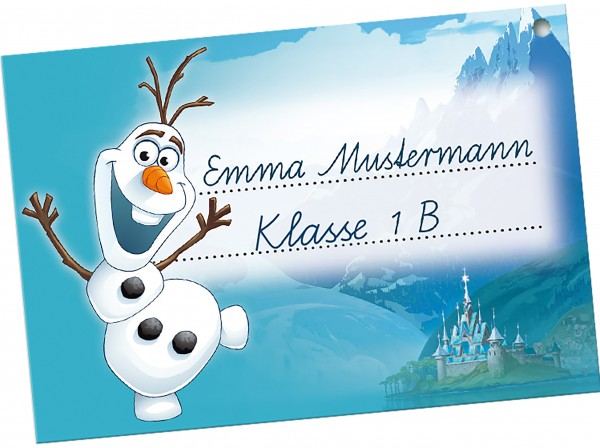 School cone tag Olaf Frozen