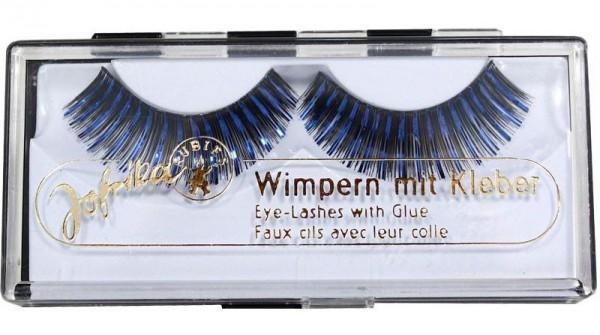 Glitzer Wimpern Blau