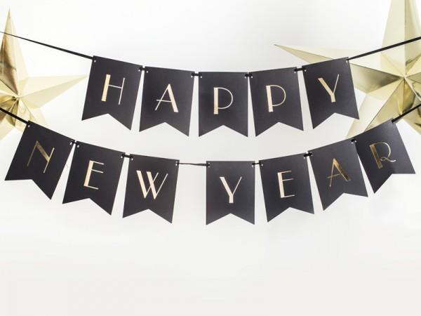 Cadena de banderines Feliz Año Nuevo 1,7 m