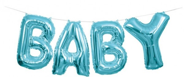 Baby Boy Felix Foil Balloon Garland Ice Blue