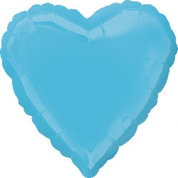 Palloncino cuore blu caraibico 43cm
