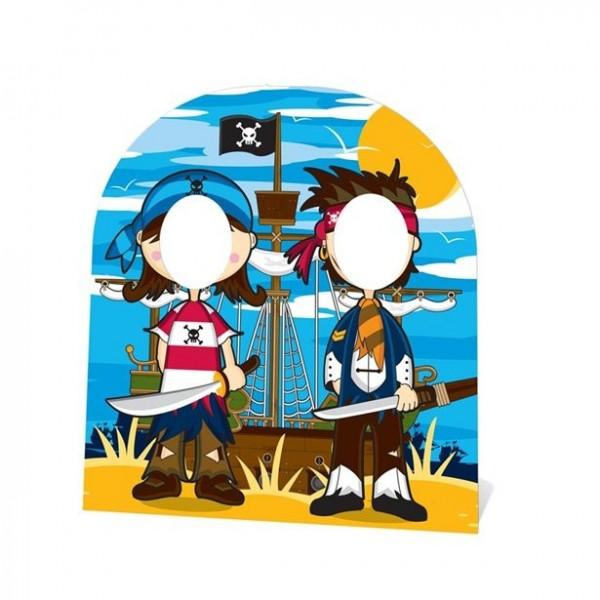 Wilde Piratenfreunde Fotowand 1,2m