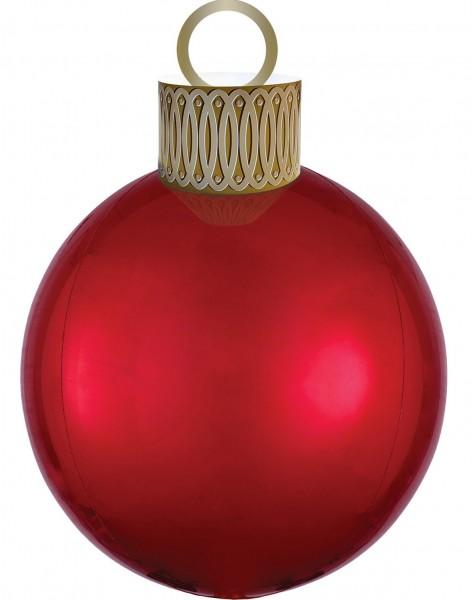 Christmas ball balloon red 38 x 50cm