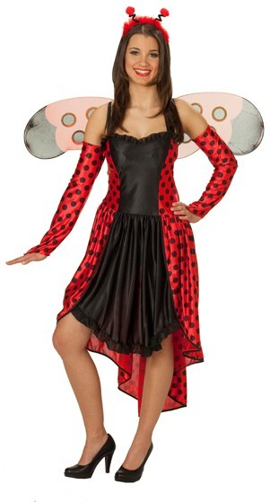 bekannte Marke am besten billig starke verpackung Schulterfreies Marienkäfer Kostüm Für Damen