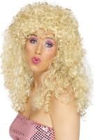 Blonde 80er Jahre Boogie Perücke