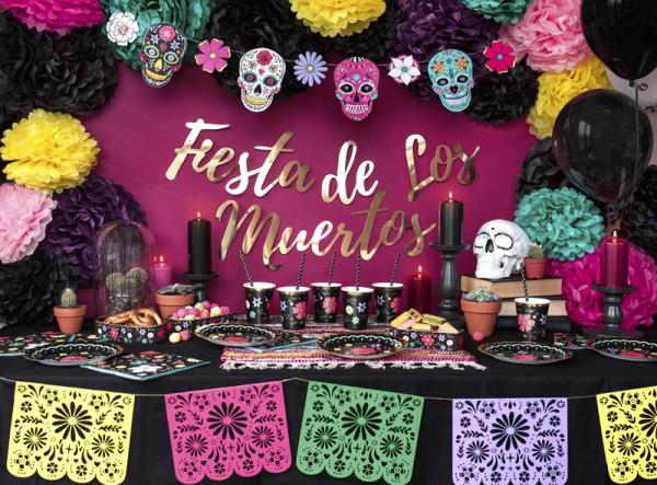 Fest der Toten Masken Girlande 1,2m