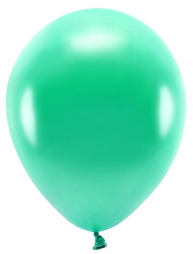100 Eco metallic Ballons smaragdgrün 26cm
