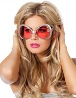 Retro Disco Brille mit Dekosteinchen