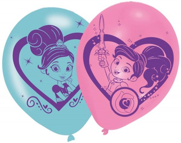 6 Nella die Riiterprinzessin Ballons 28cm