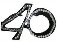Partybrille Diamond 40 schwarz