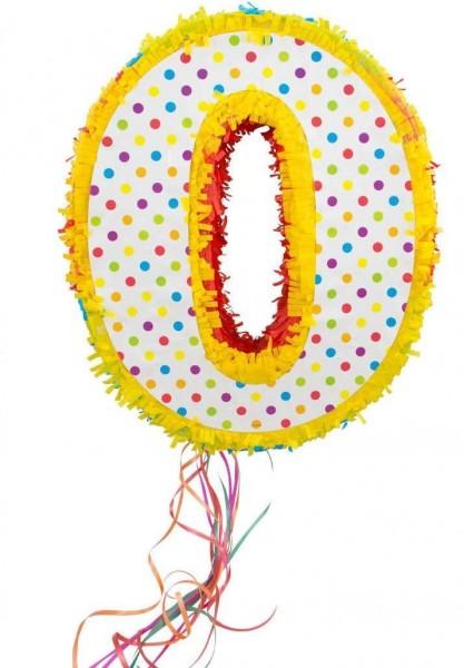 Pinata colorful number 0