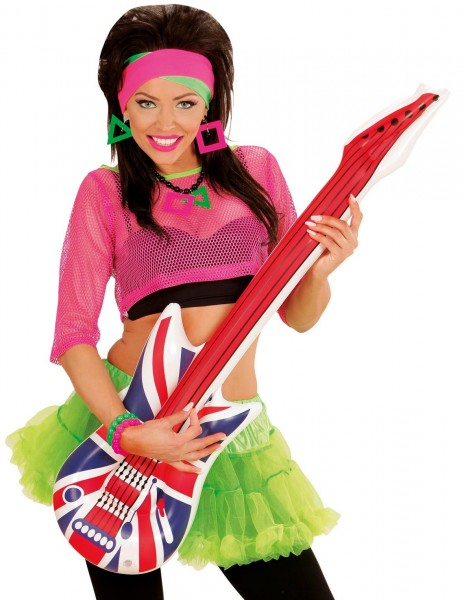 Aufblasbare U.K. Flag Gitarre 107cm