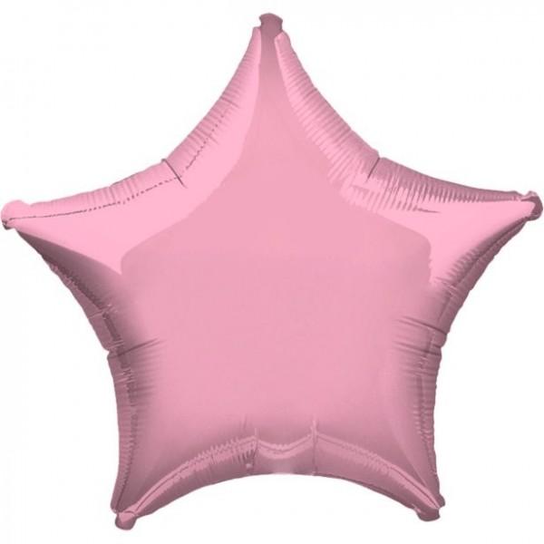 Ballon aluminium étoile rose ciel nocturne 48cm