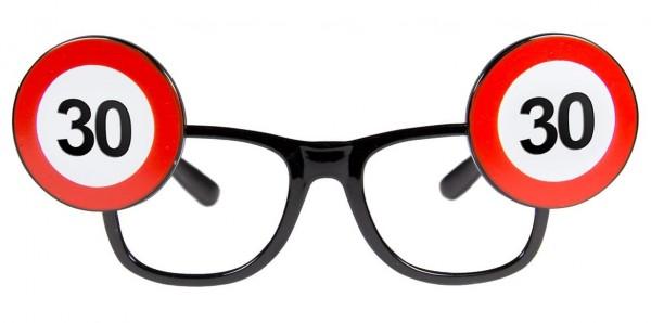 Verkehrsschild 30 Brille