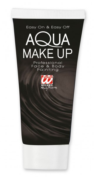 Schwarzes Aqua Make-Up 30ml