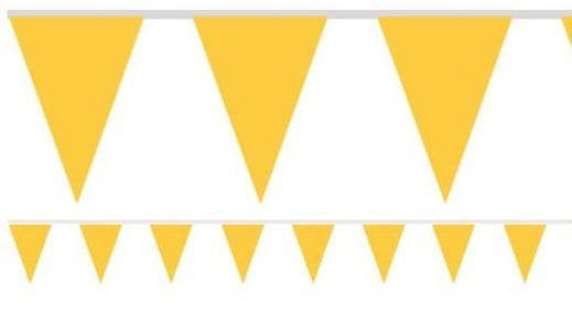 Yellow garden party pennant chain 4.5m