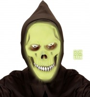 Leuchtender Sensenmann Maske Mit Kapuze