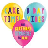 6 Birthday Vibes Ballons 27,5cm