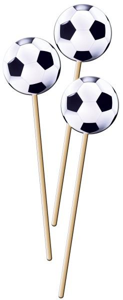 8 Spieße mit Fußballmotiv