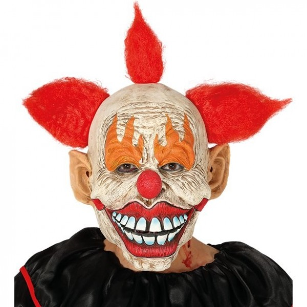 Horror Clown Latex Maske mit Haaren