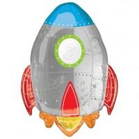 Rakete Folienballon 74cm