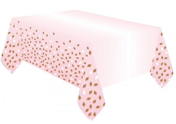 Nappe guirlandes or rose 1,8mx 1,2m