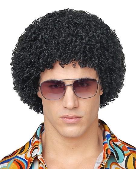 Schwarze Afro Perücke Manuel