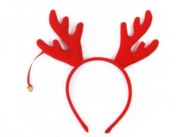 Fascia per renna rossa con campane d'oro
