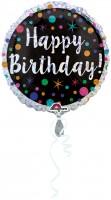 Geburtstagsballon Funkelndes Konfetti