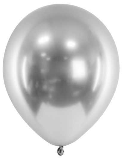 50 ballons métalliques perle de fête argent 27cm