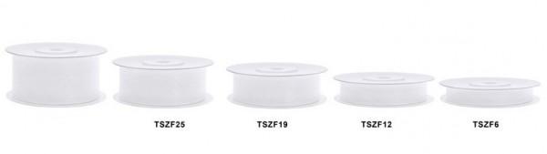 25m Chiffon Ribbon bianco 25mm