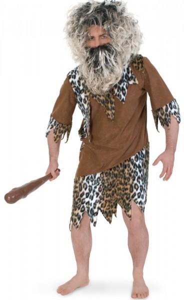 Steinzeitmensch Leoparden Longhshirt 1