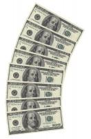10 Falschgeld 100 Dollar Servietten