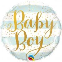 Baby Boy Folienballon gestreift 46cm