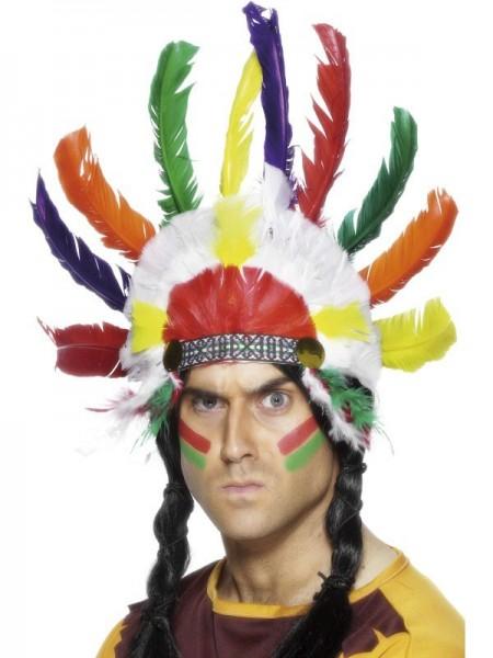 Bunter Tokala Indianer Federkopfschmuck