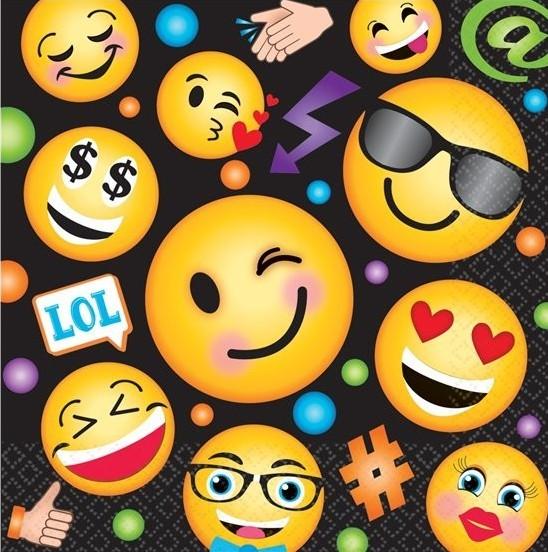 16 Emoji Family Servietten 33cm