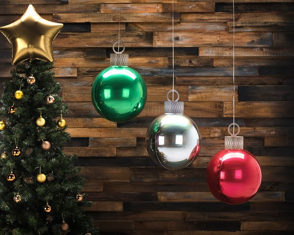 Ballon de Noël ballon argent 38 x 50cm 2