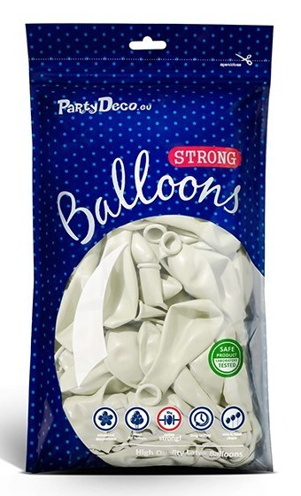 10 party star balloons white 27cm