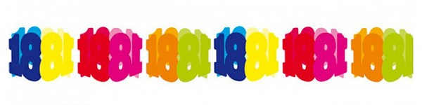 Guirlande arc-en-ciel 18e anniversaire