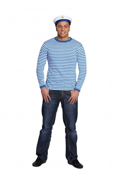 Sailor striped shirt blue white