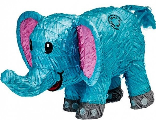 Piñata elefante azul 50cm
