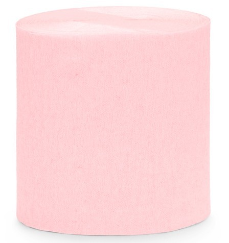 Papier crépon 10m, rose clair, 4 parties