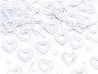Streudeko Schmuckherzen weiß 15g