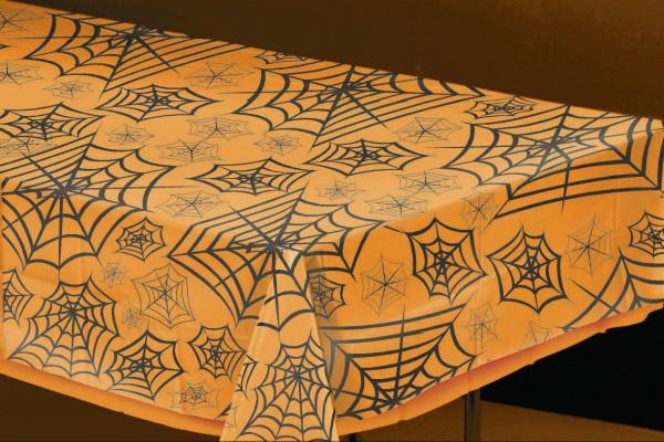 Halloween Spinnenweben Tischdecke Transparent 137x274cm