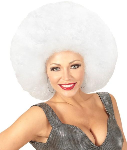 Mega Afro Perücke Weiß
