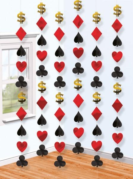 Casino style hanging decoration 210cm